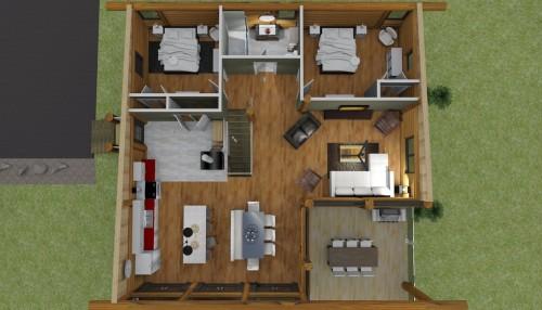 plan de maison 24 x 30