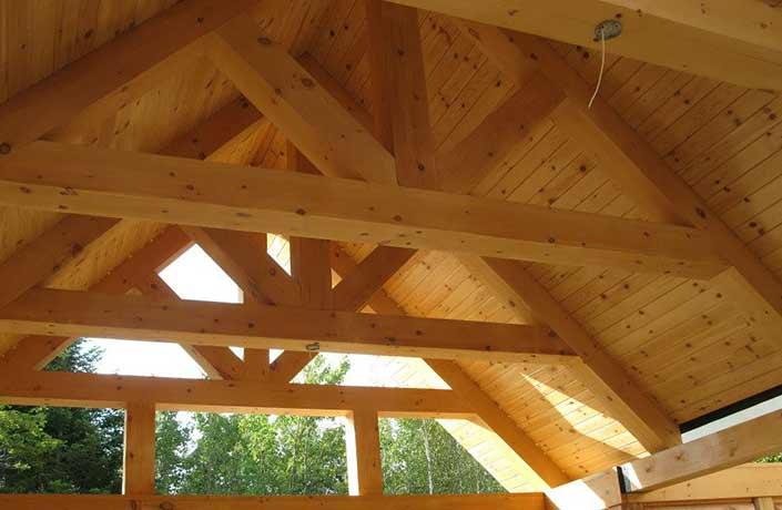 kit de maison en bois rond construction chalet usin prestige home scandinave poteau Construction de chalet en bois rond usiné - Prestige Bois Rond