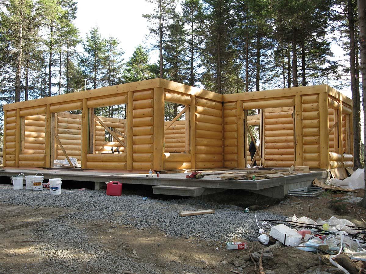 Transport livraison et installation prestige bois rond for Prix autoconstruction