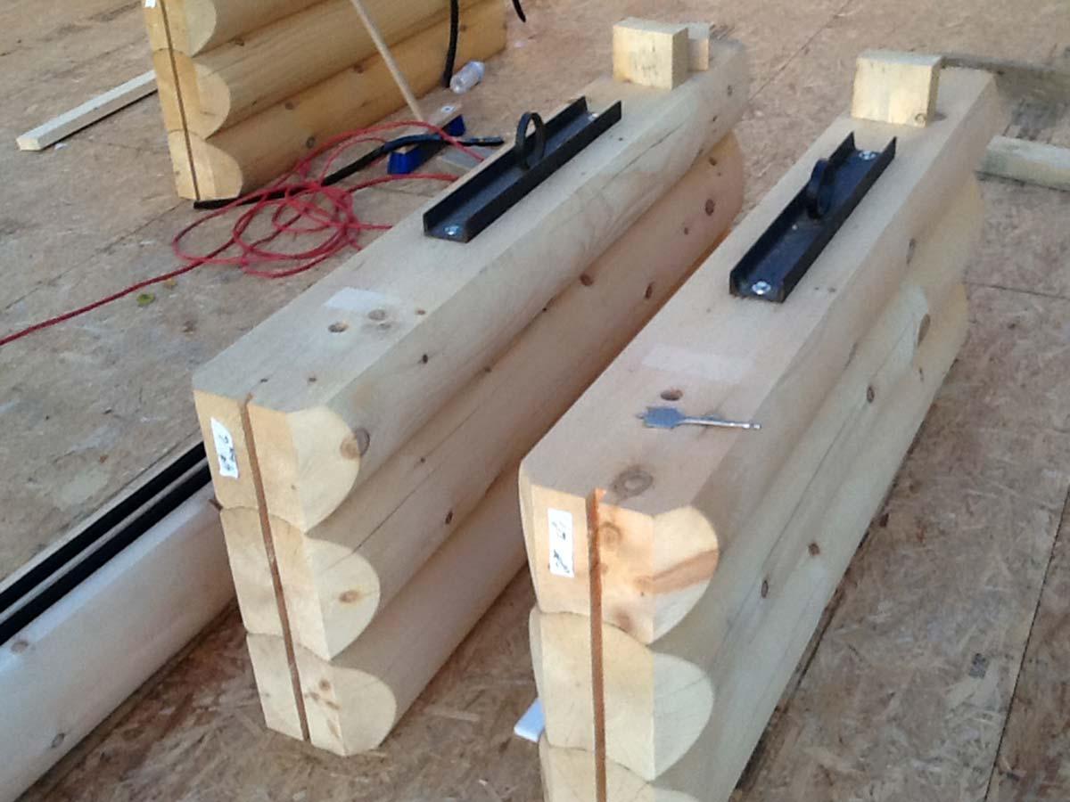 12 bois rond installation