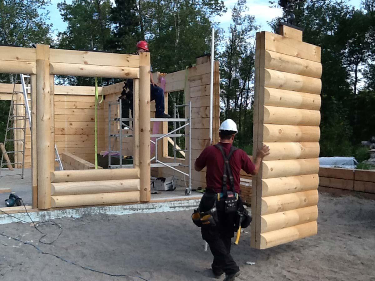 Transport livraison et installation prestige bois rond for Maison bois rond