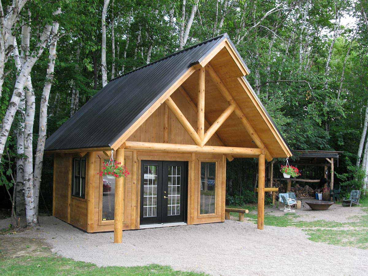 Pavillon gazebo prestige bois rond Maisons rondes en bois
