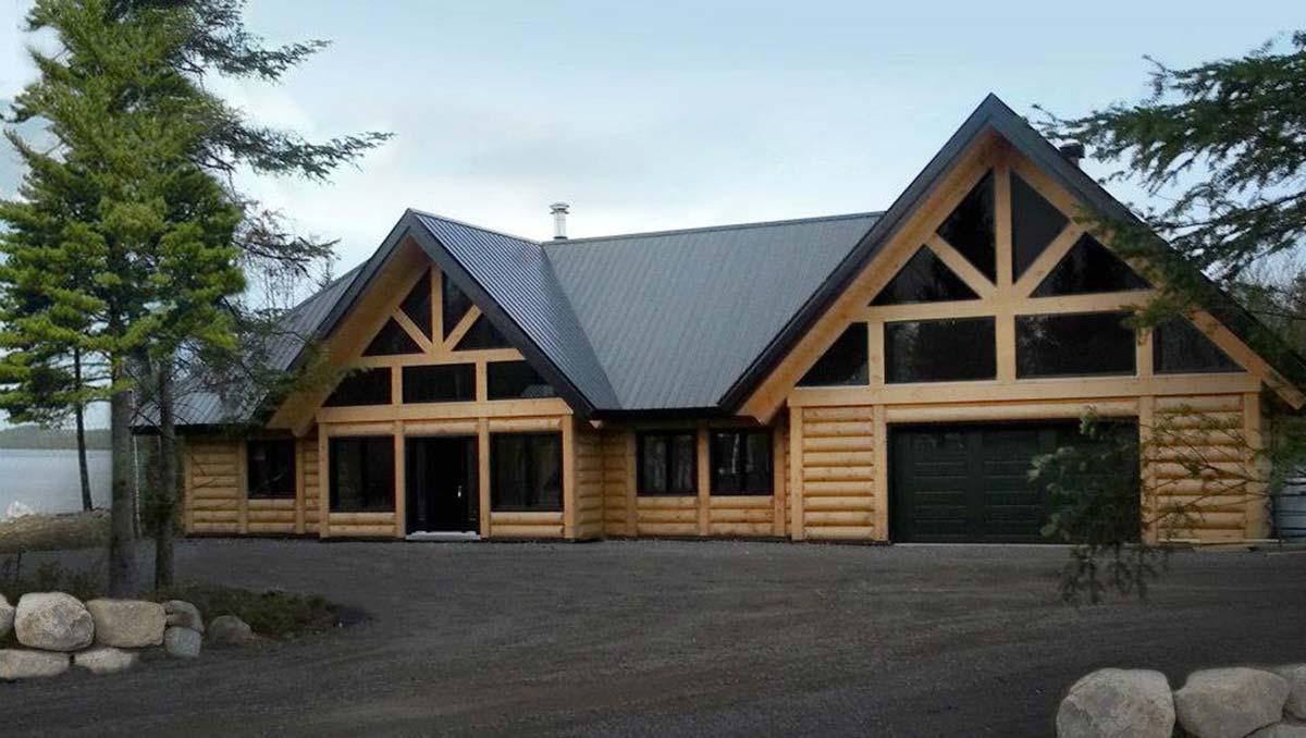 maison et chalet de style scandinave prestige bois rond. Black Bedroom Furniture Sets. Home Design Ideas